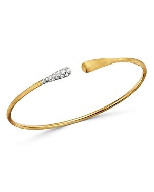 Marco Bicego 18K Yellow & White Gold Lucia Diamond Open Bangle Bracelet