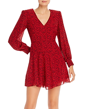 Alice + Olivia Polly Leopard Print Fit-and-Flare Dress