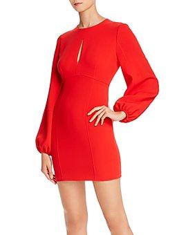 Cinq à Sept - Danica Blouson Sleeve Mini Sheath Dress