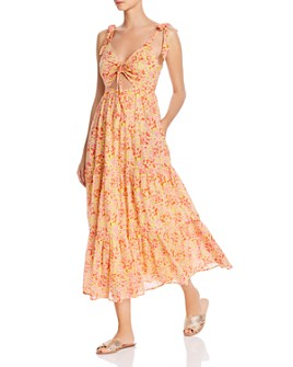 Banjanan - Zoe Floral Cutout Maxi Dress
