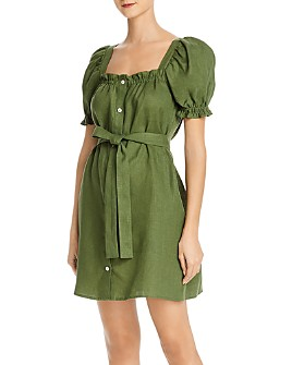 Sleeper - Brigitte Linen Mini Dress