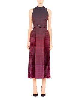 Mary Katrantzou - Julia Plaid & Houndstooth Midi Dress