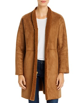 Kenneth Cole - Reversible Faux-Shearling Coat