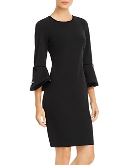Calvin Klein - Bell-Sleeve Sheath Dress