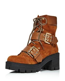 AQUA - Women's Genie Buckle Hiker Boots - 100% Exclusive