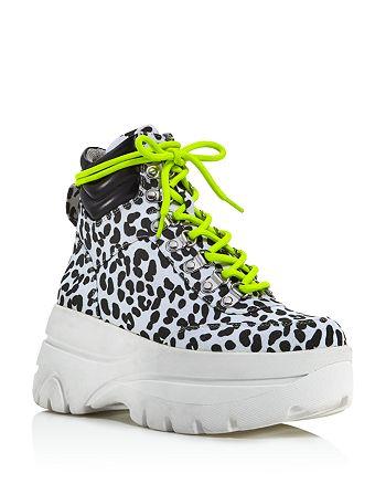 AQUA - Women's Haly Platform Hiker Boots - 100% Exclusive