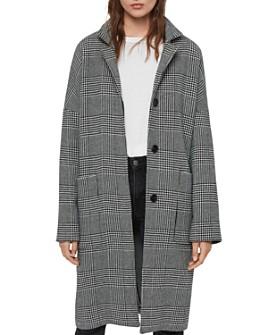 ALLSAINTS - Teya Oversize Plaid Coat