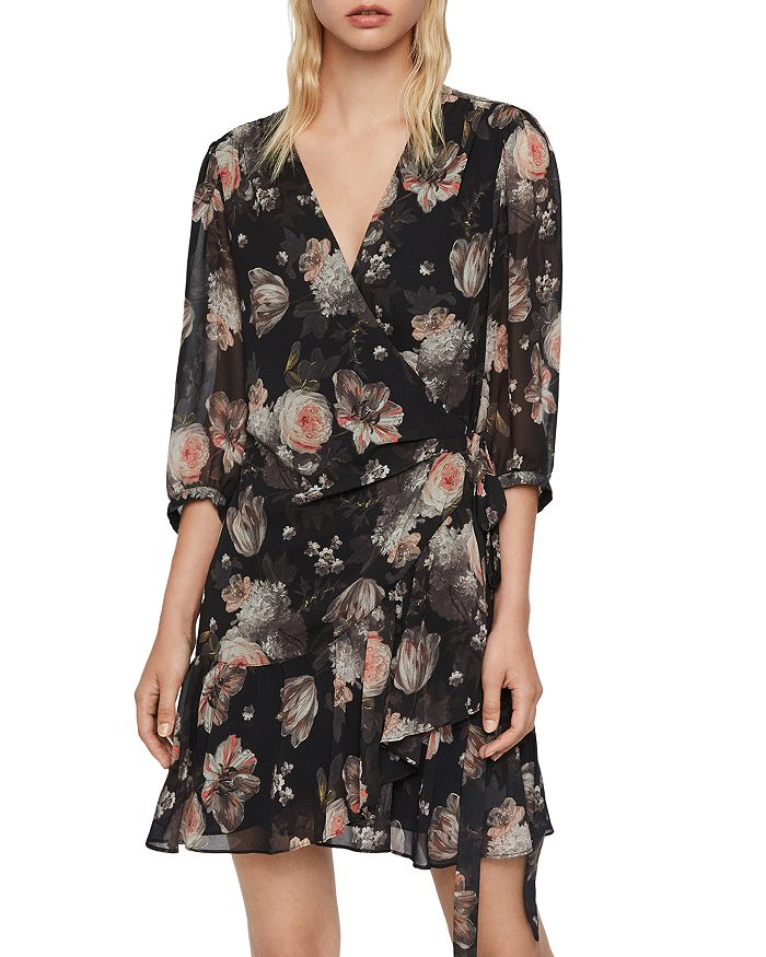 ALLSAINTS - Jade Eden Wrap Dress