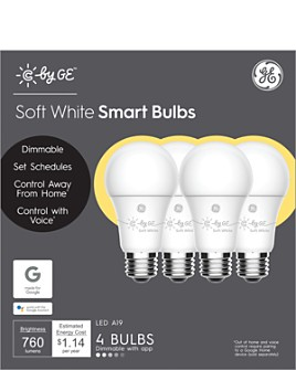 GE - Soft White Smart Light Bulbs, 4 Pack
