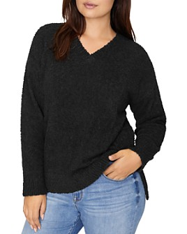 Sanctuary Curve - V-Neck Teddy Sweater