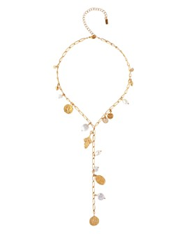 """Chan Luu - Cultured Freshwater & Simulated Pearl Necklace, 16.5""""-20.5"""""""