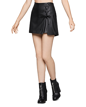 Bcbgeneration Tops LACE-UP FAUX LEATHER SKORT