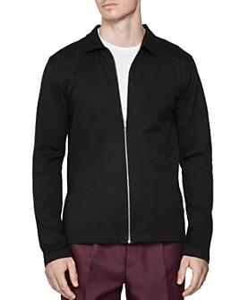 REISS - Max Piqué Zip-Up Jacket