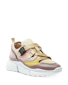 Chloé - Women's Blake Mixed-Media Low-Top Sneakers