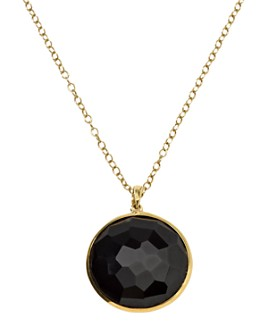 "IPPOLITA - 18K Yellow Gold Lollipop Onyx Medium Pendant Necklace, 18"""