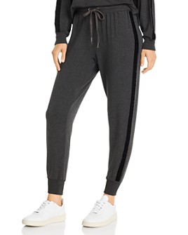 Splendid - Super Soft Velvet-Trim Jogger Pants