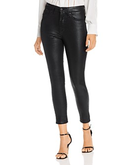 Levi's - Mile High Ankle Skinny Jeans in Black Serpent Foil