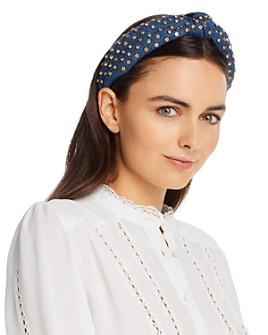 Lele Sadoughi - Embellished Denim Knot Headband