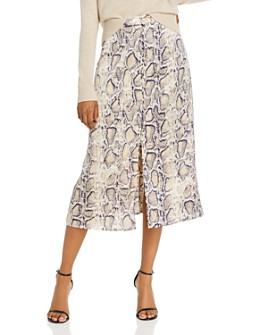 BB DAKOTA - Snake Charmer Midi Skirt