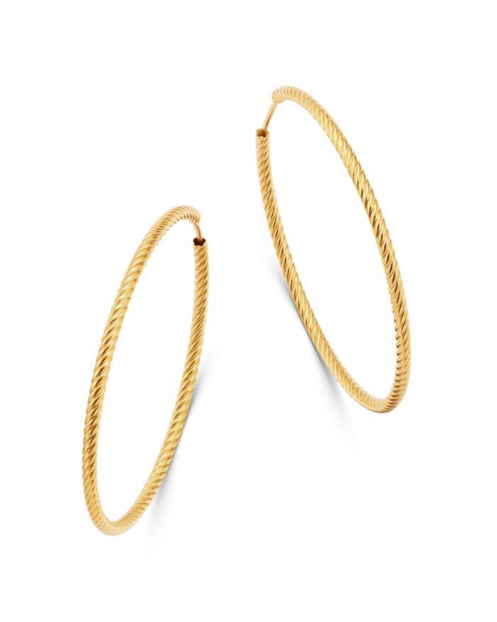 Bloomingdale's Twisted Large Hoop Earrings in 14K Yellow Gold - 100% Exclusive   | Bloomingdale's