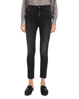 The Kooples - Mid-Rise Slim-Leg Jeans in Black
