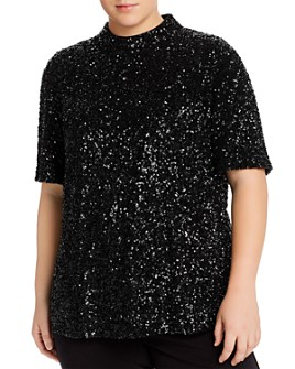 Lafayette 148 New York Plus - Charis Sequined Blouse