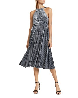 Ted Baker - Cyleste Velvet Striped Dress