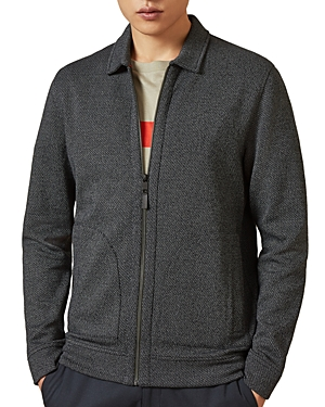 Ted Baker Jackets CINMON ZIP-FRONT LAYERING KNIT JACKET - 100% EXCLUSIVE