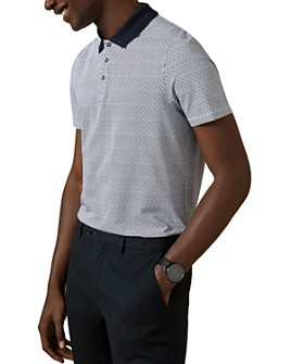 Ted Baker - Tranopo Contrast-Collar Print Polo Shirt