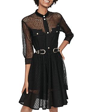 Maje Ramona Lace Mini Dress