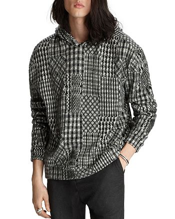 John Varvatos Collection - Easy Fit Brushed Jacquard Hoodie