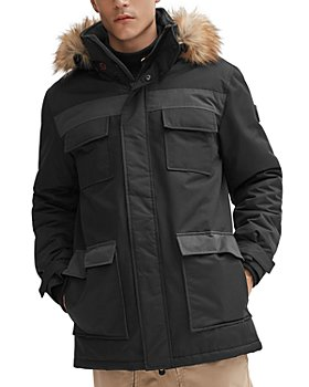 NOIZE - Mixed-Media Regular Fit Parka