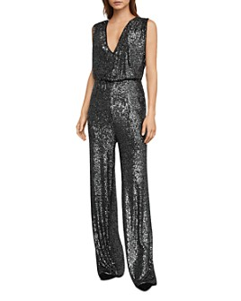 BCBGMAXAZRIA - Sequined Wide-Leg Jumpsuit