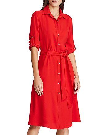 Ralph Lauren - Georgette Belted Shirt Dress