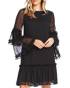 CeCe Bell-Sleeve Ruffle Dress-Women