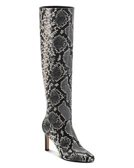 Marc Fisher LTD. - Women's Zadia Snake-Embossed High-Heel Boots