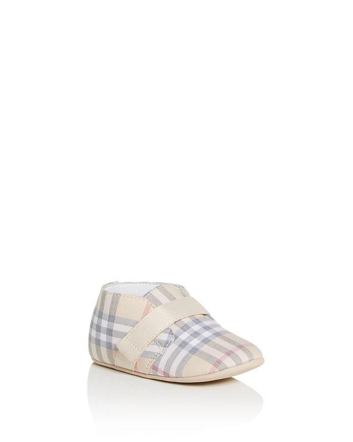 Burberry - Unisex Charlton Check Crib Shoes - Baby