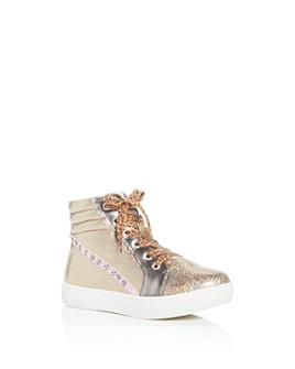 STEVE MADDEN - Girls' JKenzie Glitter High-Top Sneakers - Little Kid, Big Kid
