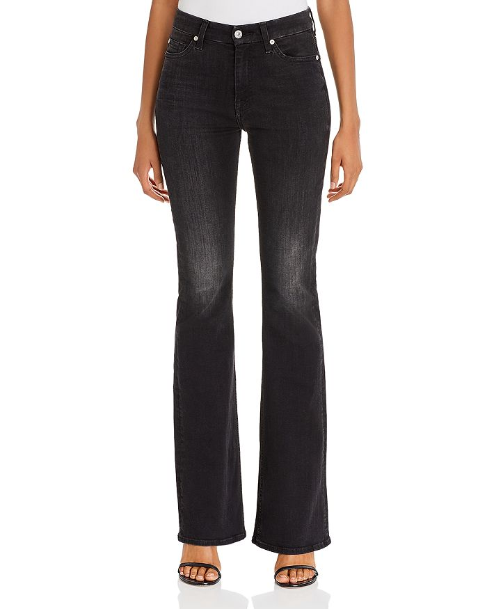 7 For All Mankind - Ali High-Waist Flared Jeans in Dark Ash