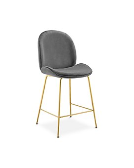 Modway - Scoop Velvet Counter Stool