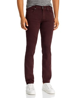 PAIGE - Federal Slim Straight Jeans in Chocolate Plum