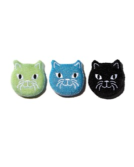Kikkerland - Cat Sponges, Pack of 3