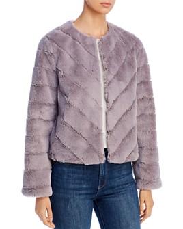 Bagatelle - Chevron Faux-Fur Jacket