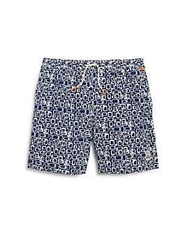 Psycho Bunny - Boys' Geo Print Swim Trunks - Little Kid, Big Kid