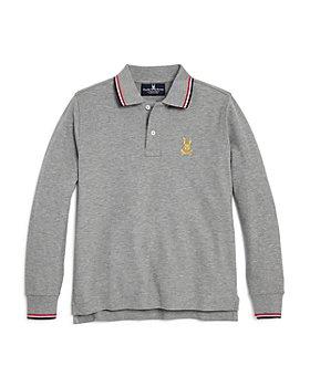 Psycho Bunny - Boys' Drake Long Sleeve Polo Shirt - Little Kid, Big Kid