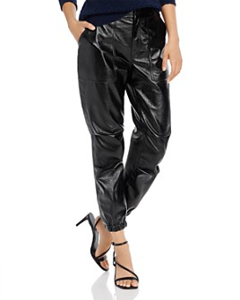 Joie - Findley Faux-Leather Jogger Pants