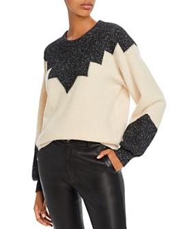 Joie - Zinca Color-Blocked Wool-Blend Sweater