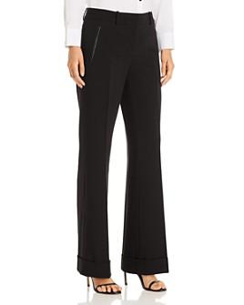 KARL LAGERFELD PARIS - Cuffed Wide-Leg Pants