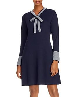 nanette Nanette Lepore - Bow-Detail Ribbed Sweater Dress