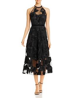 Elie Tahari - Myranda Floral Appliqué Dress
